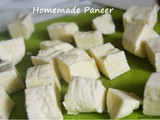Homemade paneer | cottage cheese