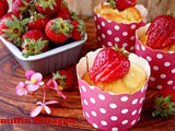 Muffin con yogurt e fragole