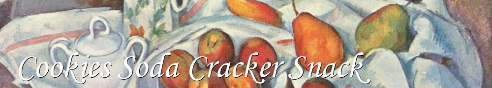 Very Good Recipes - Cookies Soda Cracker Snack