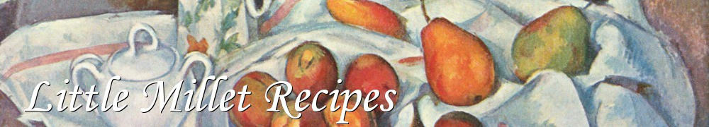 Very Good Recipes - Little Millet Recipes